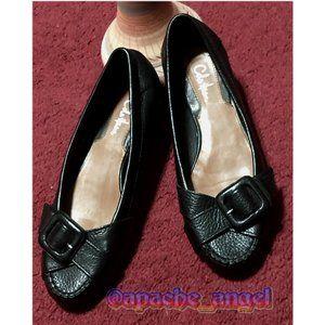 Cole Haan Black Buckle Ballet Shoes Sz 7
